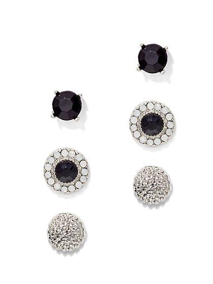 3-Piece Beaded Post Earring Set  - New York & Company
