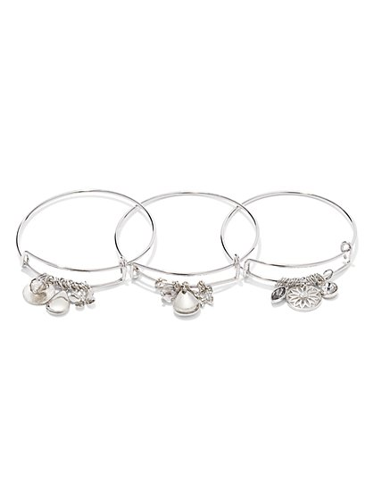 3-Piece Butterfly Charm Bracelet Set   - New York & Company