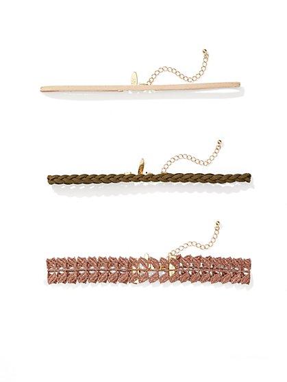 3-Piece Choker Necklace  - New York & Company