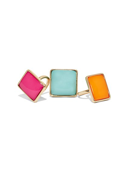 3-Piece Cocktail Ring Set  - New York & Company