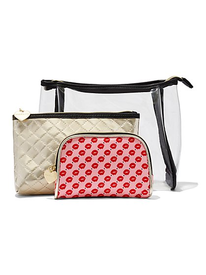 3-Piece Cosmetic Bag Set  - New York & Company