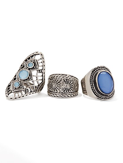 3-Piece Filigree Ring Set  - New York & Company