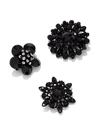 3-Piece Floral Pin Set  - New York & Company