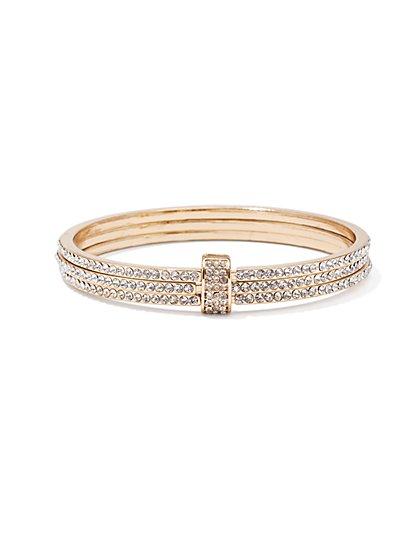 3-Piece Pavé Cuff Bracelet  - New York & Company
