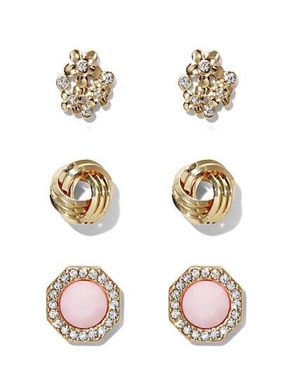 3-Piece Post Earring Set  - New York & Company