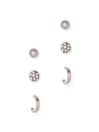 3-Piece Post Earring Set  - New York & Company