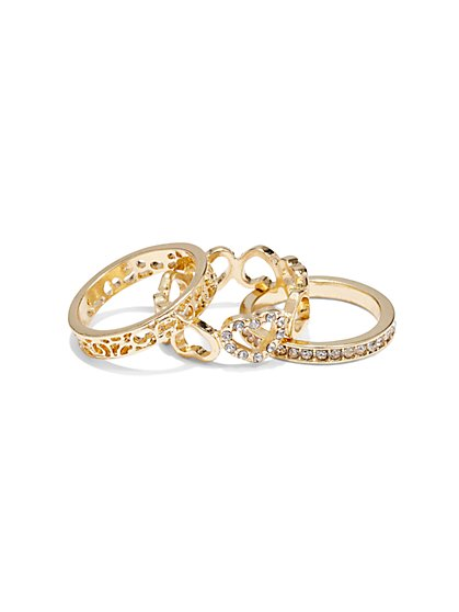 3-Piece Ring Set  - New York & Company