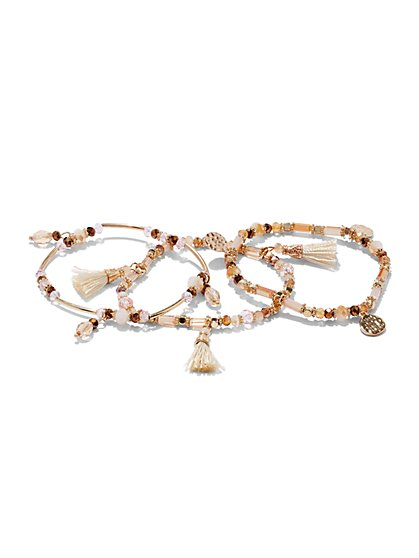 3-Piece Tassel Bracelet Set  - New York & Company