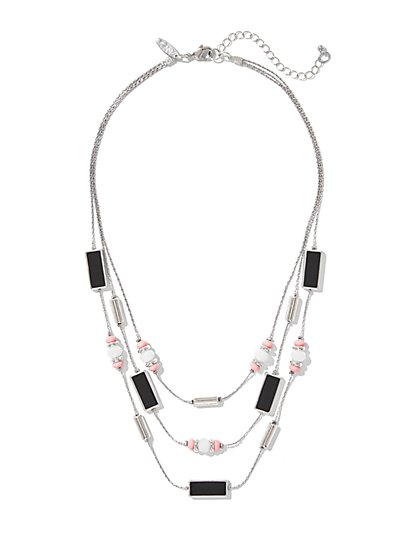 3-Row Beaded Necklace  - New York & Company