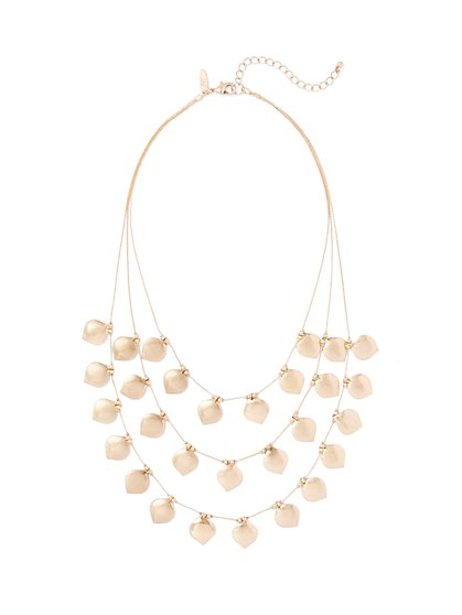 3-Row Bib Necklace  - New York & Company