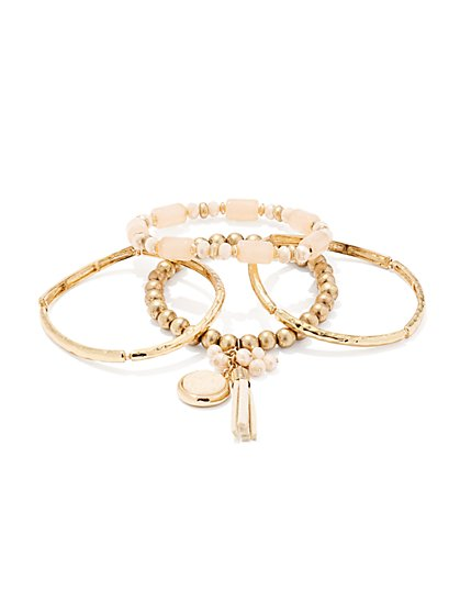 4-Piece Bangle Bracelet Set  - New York & Company