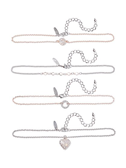 4-Piece Choker Necklace Set  - New York & Company