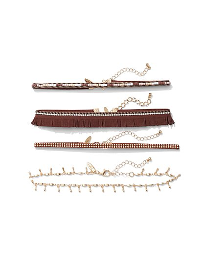 4-Piece Choker Necklace Set  - New York & Company