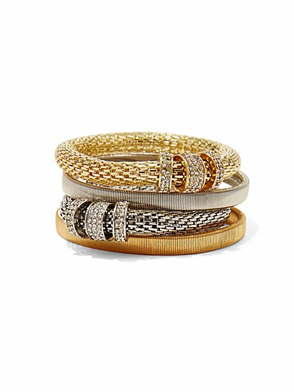 4-Piece Mesh Bracelet Set  - New York & Company