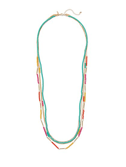 4-Row Beaded Necklace  - New York & Company