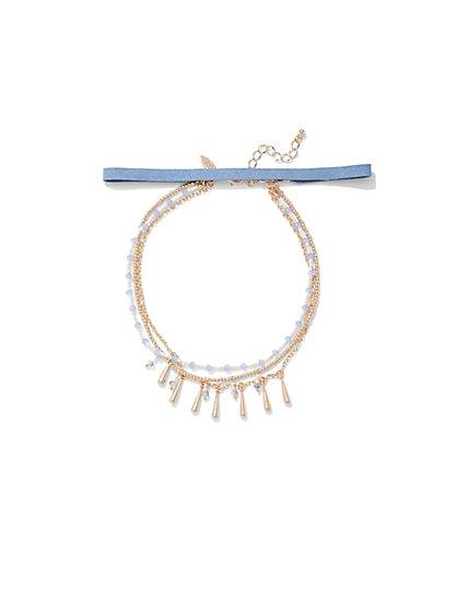 4-Row Choker Necklace  - New York & Company