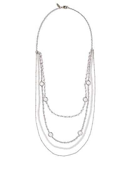 4-Row Faux-Pearl Necklace  - New York & Company