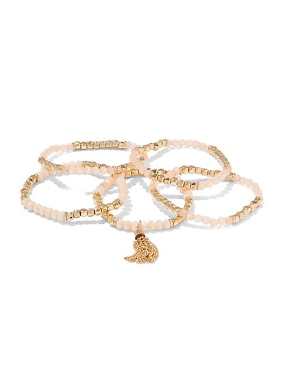 5-Piece Beaded Bracelet Set  - New York & Company