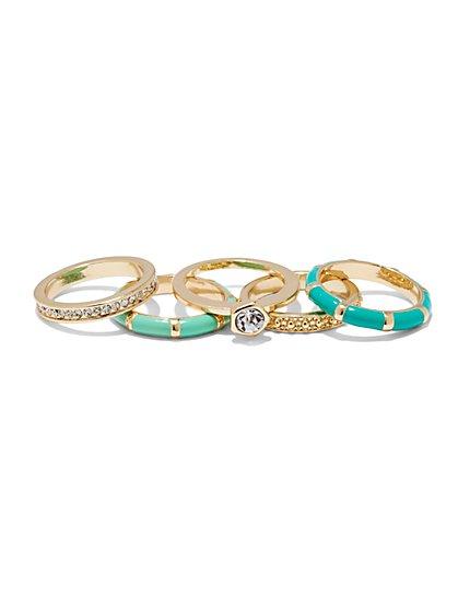 5-Piece Goldtone Ring Set  - New York & Company