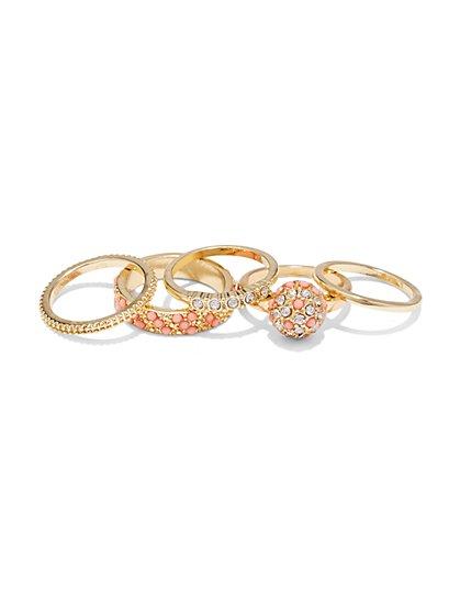 5-Piece Ring Set  - New York & Company