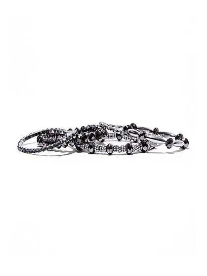 5-Piece Silvertone Bracelet Set  - New York & Company