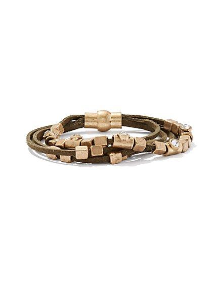 5-Row Beaded Cord Bracelet  - New York & Company