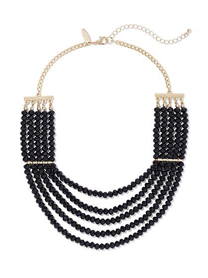 5-Row Beaded Necklace  - New York & Company