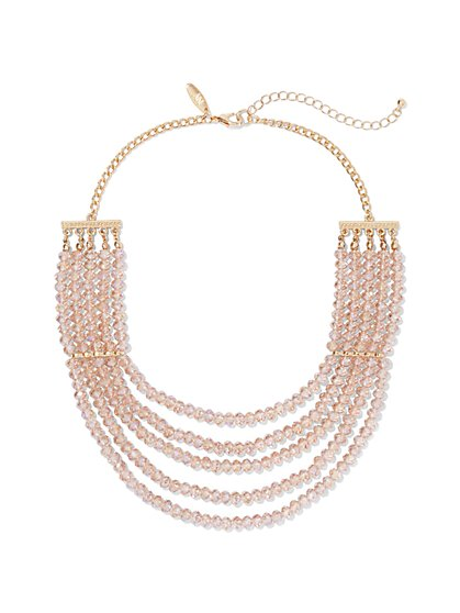 5-Row Beaded Necklace  - New York & Company