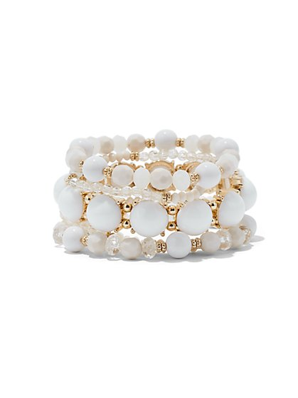 5-Row Beaded Stretch Bracelet  - New York & Company