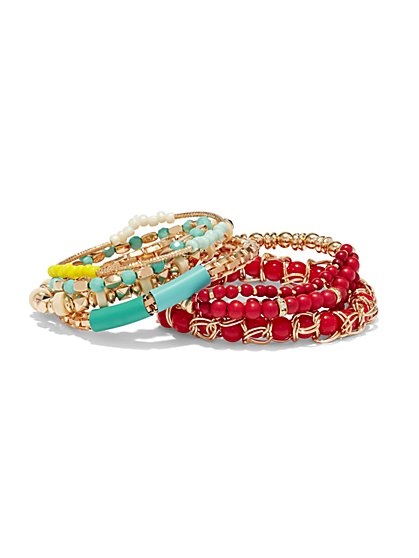 6-Piece Beaded Bracelet Set  - New York & Company