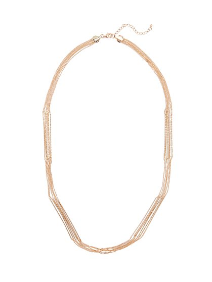 6-Row Beaded Necklace  - New York & Company