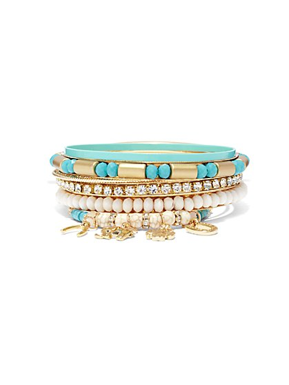 7-Piece Bangle Bracelet Set  - New York & Company