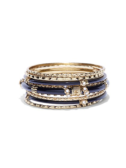 7-Piece Goldtone Bangle Set   - New York & Company