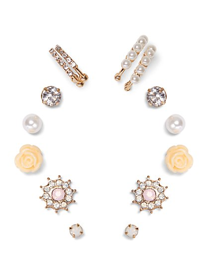 7-Piece Goldtone Earring Set  - New York & Company