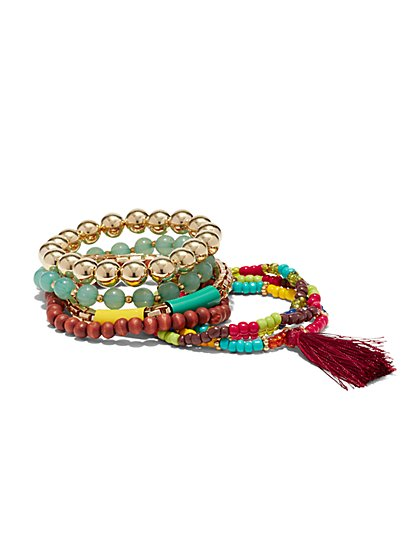 7-Piece Stretch Bracelet Set  - New York & Company