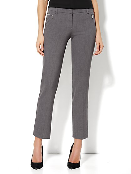 7th Avenue Ankle Pant - Zip Slim Leg - Ellington Grey - New York & Company