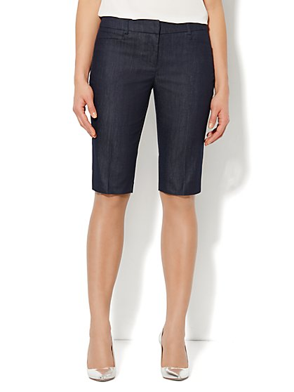 7th Avenue Bermuda Short - Hidden Blue - New York & Company