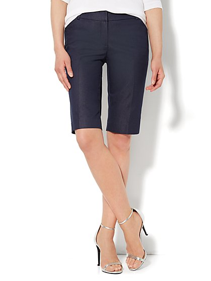7th Avenue Bermuda Short - Navy  - New York & Company