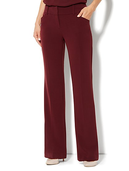 7th Avenue Bootcut Pant - Black Cherry - Petite