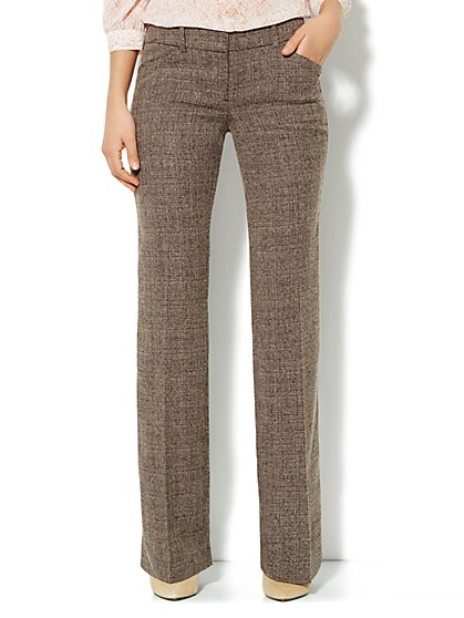 7th Avenue Bootcut Pant - Brown Tweed - Average