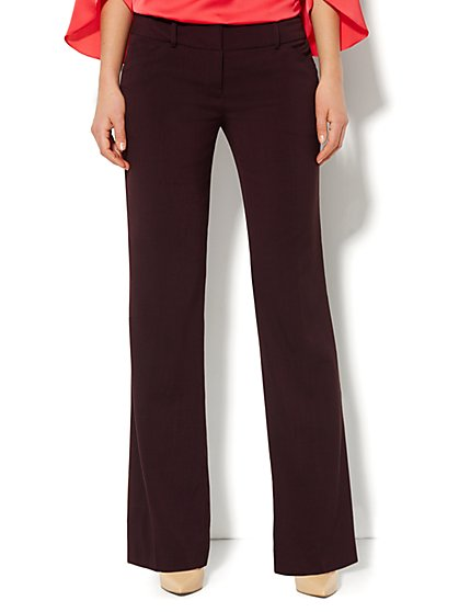 7th Avenue Bootcut Pant - Eggplant  - New York & Company
