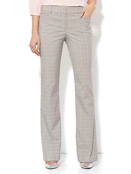 7th Avenue Bootcut Pant - Glen Plaid - Tall - New York & Company