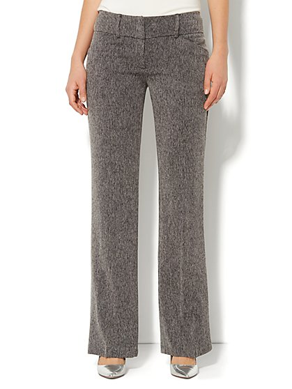 7th Avenue Bootcut Pant - Grey Tweed - New York & Company