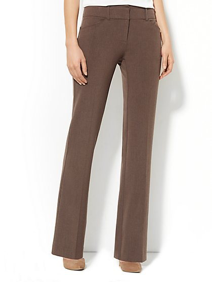 7th Avenue Bootcut Pant - Metro Brown Heather - New York & Company
