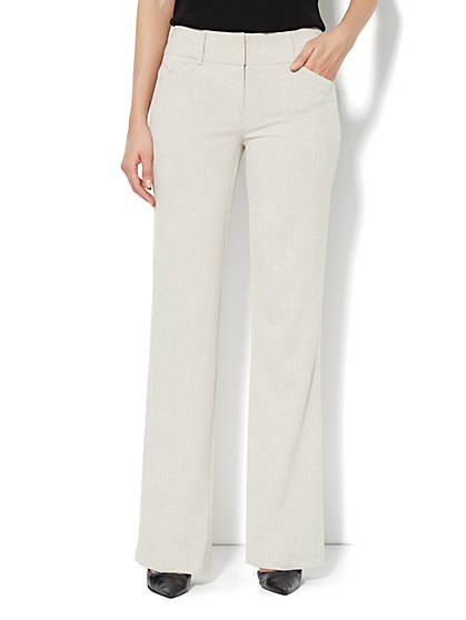 7th Avenue Bootcut Pant - Natural - Tall  - New York & Company