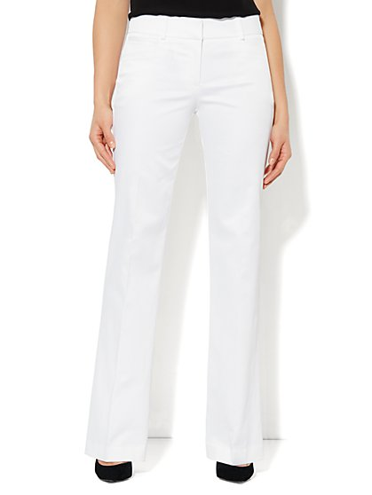 7th Avenue Bootcut Pant - Optic White - Petite