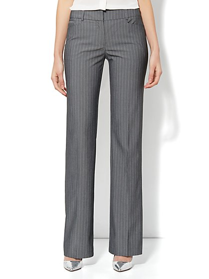 7th Avenue Bootcut Pant - Pink Stripe - Average