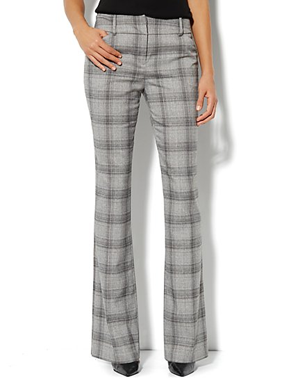 7th Avenue Bootcut Pant - Plaid - Average