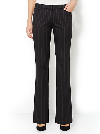 7th Avenue Bootcut Pant - Stripe - Average
