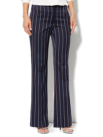 7th Avenue Bootcut Pant - Stripe